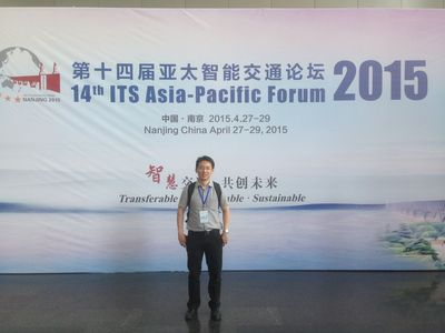 Attending the 14th ITS Asia-Pacific Forum in Nanjing, China, April 2015