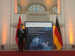 Attending the Germany-Chinese Symposium on the Project of Industry 4.0 in Berlin, Germany, November 2016