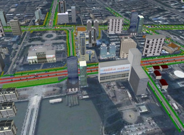 Simulation of Traffic Organization Plans at CBD Area
