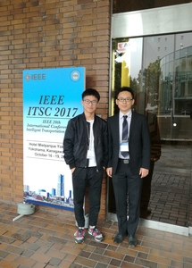 Attending ITSC2017 in Yokohama, Japan with my student Mr. Zhihao Zhang, October 2017